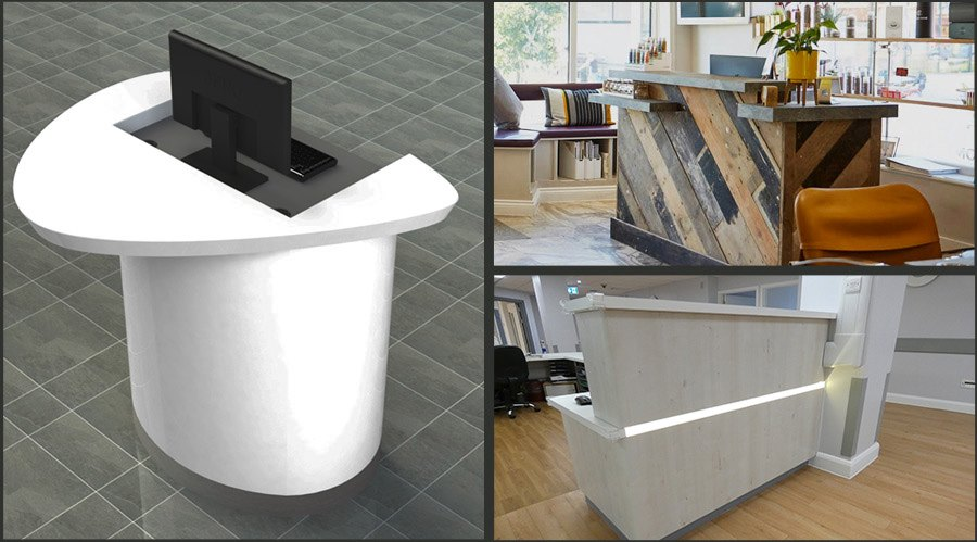 Small Reception Desks and Reception Pods
