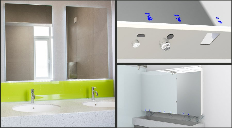 Washroom Mirror Cabinet UK