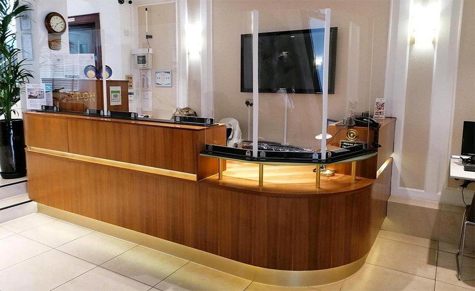 Perspex Reception Desk Screens-UK