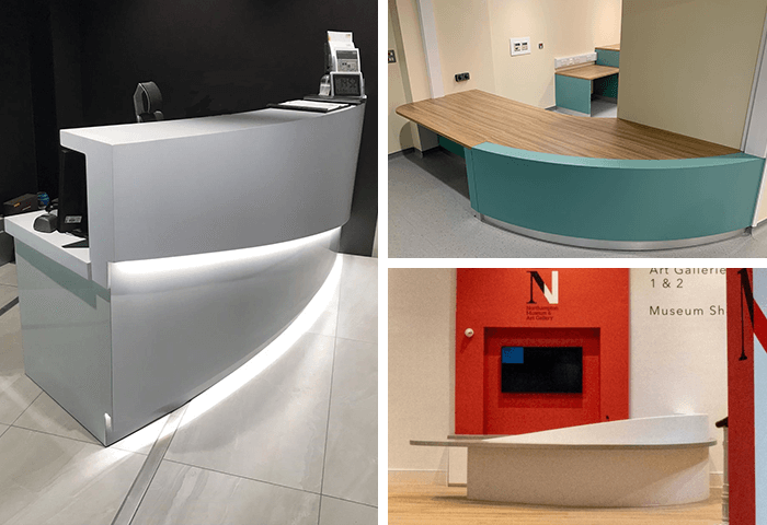 Curved Reception Desks bespoke UK