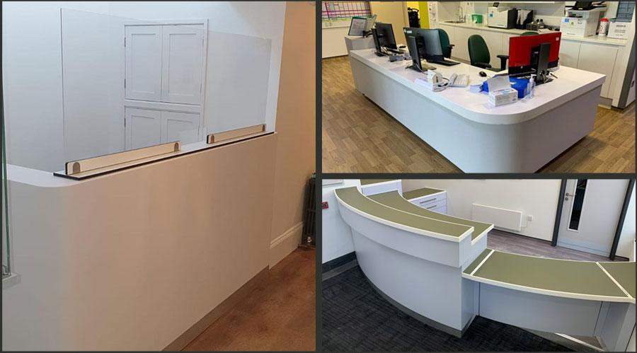 White Reception Desks UK
